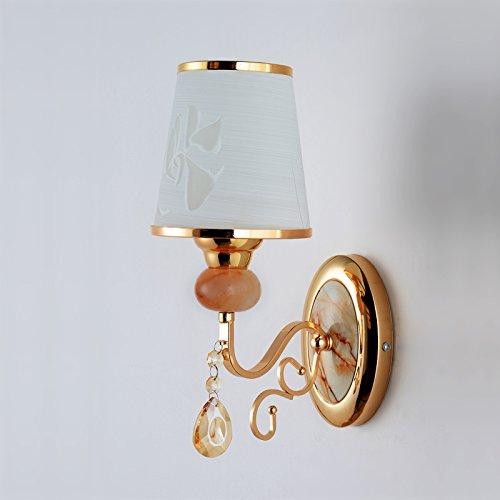 XHOPOS HOME Wandlampen Wandleuchten LED moderne minimalistische Schlafzimmer Wohnzimmer Nachttischlampe Spiegel Standlicht vorne Single Oberkellner Glühlampe