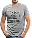 Spreadshirt Geschwister Regeln Witziger Spruch Jüngstes Kind Männer Premium T-Shirt, L, Grau meliert