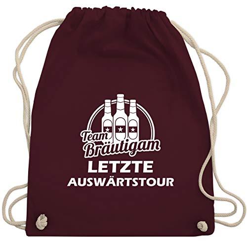 Fass Mann Kostüm - JGA Junggesellenabschied - Letzte Auswärtstour Team Bräutigam Bier - Unisize - Bordeauxrot - WM110 - Turnbeutel & Gym Bag