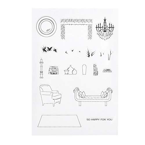 Fafalloagrron, timbri trasparenti in silicone per mobili, scrapbooking, album fotografici, fai da te, biglietti, decorazioni artistiche