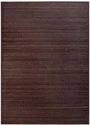 LOLAhome Alfombra de salón o Comedor Industrial marrón de bambú de 180 x 250 cm Factory