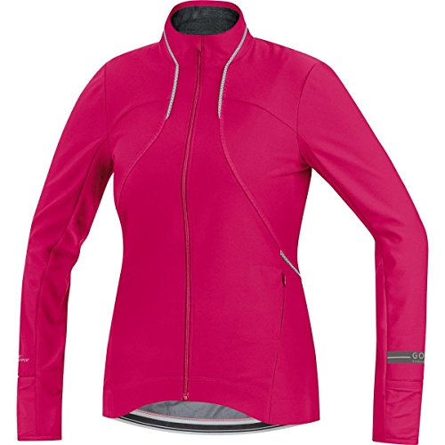 GORE WEAR Damen Langarm Air Windstopper Soft Shell Shirt Long Jacke, Jazzy Pink, 38