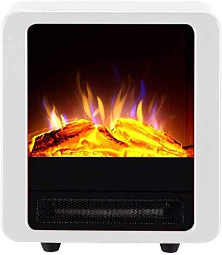 JX Estufa eléctrica 900 / 1800W Chimenea eléctrica Calentador eléctrico Llama virtual Protección...
