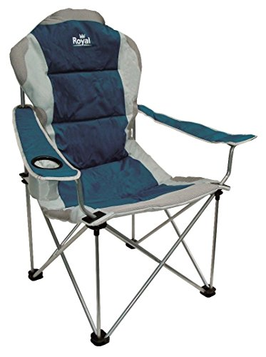 Royal 355396 President Chair, Blue/Silver