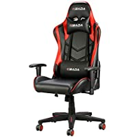 Hbada Gaming Chair Racing Style Ergonomic High Back Computer Chair with Height Adjustment, Headrest and Lumbar Support E-Sports Swivel Chair
