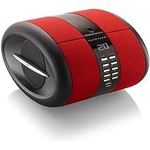Naf Naf SENSEBTRD - Radio CD de diseño con Bluetooth, USB y aux-in, color rojo