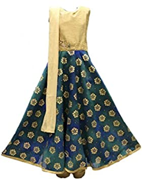 GCS2739 Burlywood y Traje de Churidar Teal chica Indian Bollywood Fancy Dress
