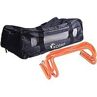 Kosma pack de 6 vallas de agilidad velocidad Multi-Sport ayudas de formación de 6 pulgadas con bolsa de transporte gratuita- (color naranja): La | Hacer últimos regalos para Navidad, cumpleaños.
