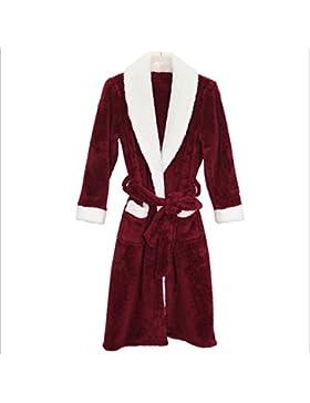DMMSS Coral velluto della camicia da notte degli abiti da uomo Pigiama autunno e l'inverno , 1 , l