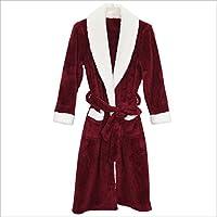 DMMSS Donne corallo velluto camicia da notte Robes pigiami autunno e l'inverno , blue male models , l