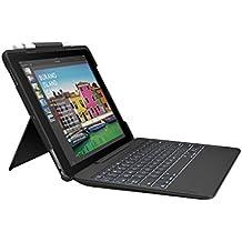"""Logitech Slim Combo - Funda con teclado inalámbrico retroiluminado extraíble y tecnología Smart Connector (compatible con iPad Pro de 10.5"""", teclado español QWERTY), color negro"""