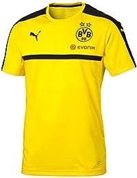 Puma-Camiseta para hombre, color amarillo/negro FR: () talla L