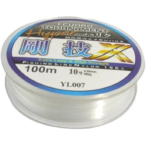 TOOGOO (R) 10# 0.55mm Diametro 100M Hilo 35Kg 77.1lb Carrete de Sedal Linea de Pesca