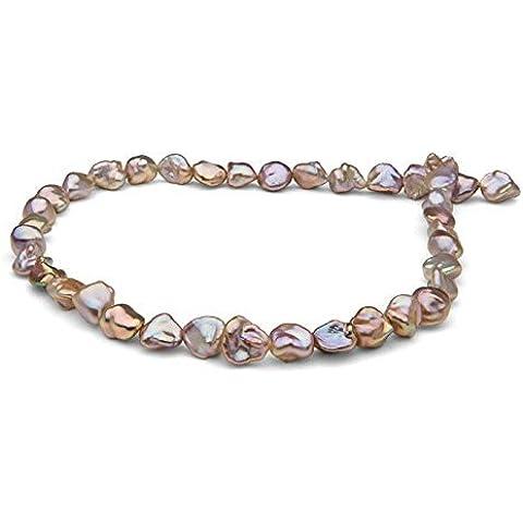 Pearl Paradise, dicono le donne s 18 Keshi Collana di perle, colore: rosa metallizzato - Coltivate Collana Di Perle Keshi