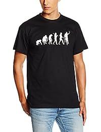 Shirtzshop Herren T-shirt, Schwarz, L, sshop-evomaler-t