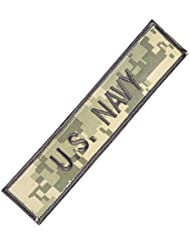 US Navy USN Name Tape ACU ECWCS Embroidery Military Hook&Loop Patch