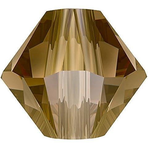 5328SWAROVSKI bicono xilion, 4mm, perline, colore: bronzo, 2x (Swarovski Xilion Diamante)