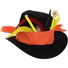 Sombrero Sombrerero Loco de Alicia en el país de las maravillas plumas
