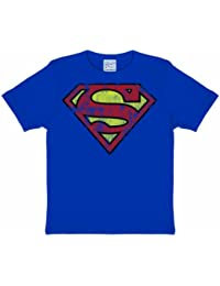 Cool Superman Logo Comic Kids T-Shirt, deep blue, shape and color resistant - 80/86