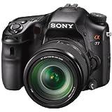 Sony SLT-A77VM SLR-Digitalkamera (24 Megapixel, 7,6 cm (3 Zoll) Display, Live View, bildstabilisiert) mit 18-135mm Objektiv schwarz