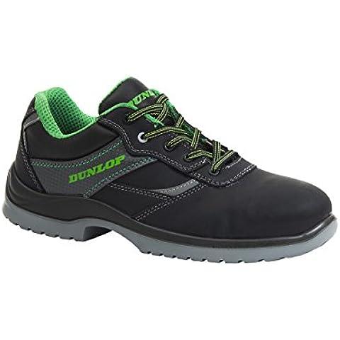 Dunlop First One Low - Zapatos de protección laboral S3 SRC, color negro