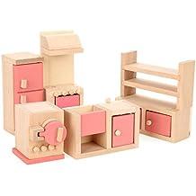 Wooden Dollhouse Furniture Kitchen Toy Set