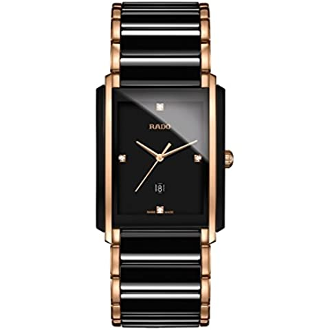 Rado Integral Jubile Bicolor Negro Cerámica y Rose Gold–Reloj para hombre r20207712