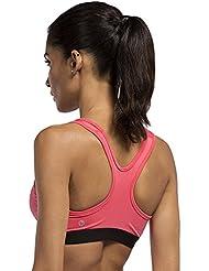 Yoga Color puro ejercicio Fitness sujetador deportivo sin llantas, color bra-015, tamaño XL