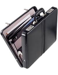 Nuevo (1) maletín D242PS colour negro de piel 43 cm Attaché Dermata/camareros