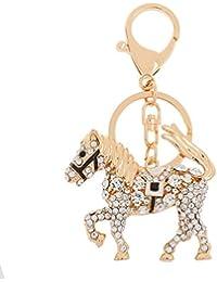Liroyal Crystal Rhinestone Tortoise Keyring Charm Pendant Purse Bag Key Ring Chain Gift