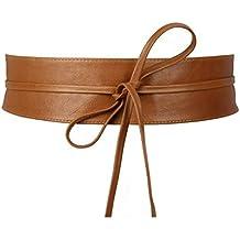 OLIVIA - Ceinture pour femme, large à nouer en cuir de vachette -  Accessoire Tendance 01fa875229e