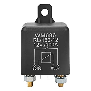 WM686 100A Relay Car Starter Relay Normal Open 4-pin Relay Replacement for Small Crane, Wheat Combine Harvester ON/OFF RL/180 DC 12V