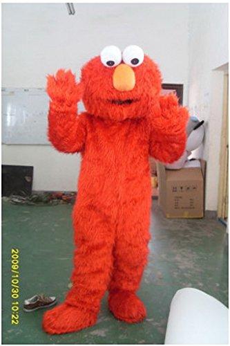 Sesame Street Muppet Elmo Maskottchen Kostuem Kleidung Erwachsene (Monster Kostüme Sesame Cookie Street)