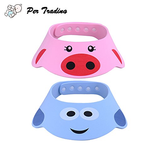 Per 2pcs Baby Kids Kinder Shampoo Baden Dusche Displayschutzfolie Gap Hat Wash Haar Shield ( C )