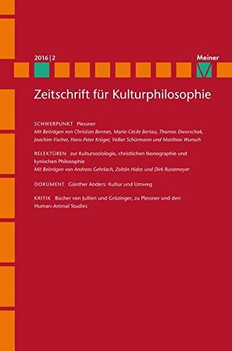 Plessner: Zeitschrift für Kulturphilosophie, Heft 2016/2