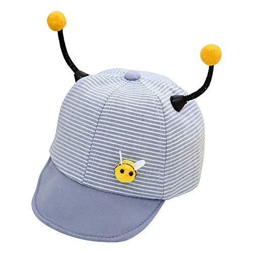 Cimenn Kinderbienen-Form-Ohr-Kappe, Jungen-Mädchen-Nette Karikatur-Baumwollbaseballmütze Sunhat (Grau) - Grau Infant Baseball