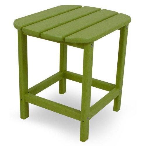 CASA BRUNO Beistelltisch 48x38x46 cm, aus recyceltem Poly-HDPE Kunststoff, limettengrün - kompromisslos wetterfest