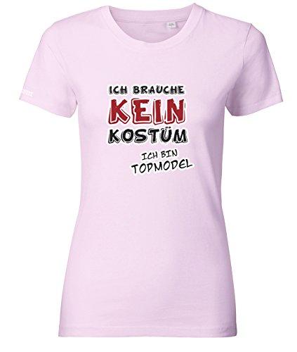 Jayess Ich Brauche Kein Kostüm - Ich Bin Topmodel - Damen T-Shirt in Rosa by Gr. L (Klum Kostüme)