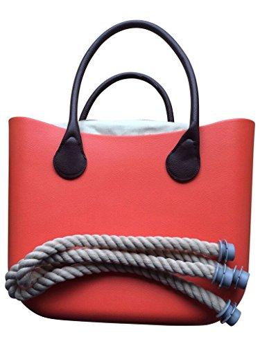 Shopper, Einkaufstasche 'City Bag', Farben:Classic White Cosmo Orange