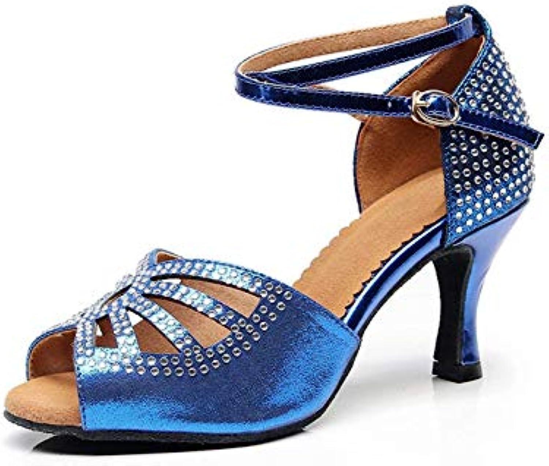 ZHRUI Ladies Sparkle Crystalds Studded Med Heel blu Scarpe da Ballo Sandali da Festa UK 8 (Coloreee   -, Dimensione... | Prezzo economico  | Scolaro/Signora Scarpa