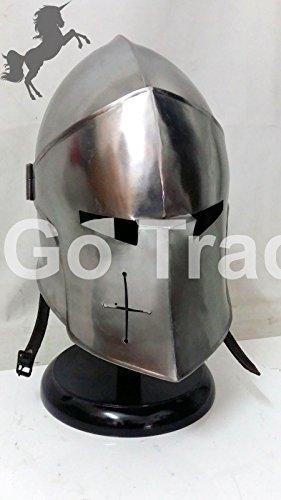 ANTIQUENAUTICAS Medieval Mittelalter Barbuten Helm Ritter Templer Kreuzfahrer Rüstung Helm Schatz Gift
