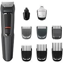 Philips MULTIGROOM Series 3000 MG3757/15 Recargable Negro cortadora de pelo y maquinilla - Afeitadora (Negro, Rectángulo, Acero inoxidable, Barba, Oído, Ceja, Moustache, Nariz, 70 min, Integrado)