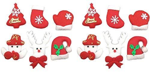 Nähen Einen Kostüm Weihnachtsbaum Sie - Filz-Applikationsset für Weihnachten, Weihnachtsbaum, Schneemann, Handschuhe, Hut, Weihnachtsmann, Rentiere, Vlies-Sticker für Heimwerker, Geschenk, Heimdekoration