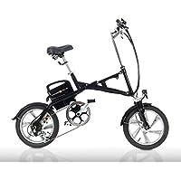 Cross Fold® fe16 Negro – Pedelec, Test Sieger múltiple, bicicleta plegable, también como E-Bike, S de Mofa con gas Mango, como 20 km/h y 25 Km/h Versión, ...
