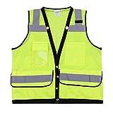 GM666 Vest, Warnweste Warnweste Warnweste Nachtarbeitskleidung,A,OneSize