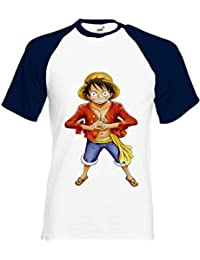 One Piece Monkey Luffy Manga ????? Novelty Black/White Men Women Unisex Shirt Sleeve Baseball T Shirt