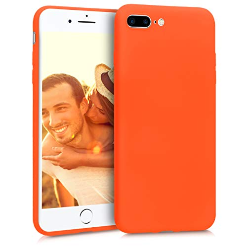 kwmobile Apple iPhone 7 Plus / 8 Plus Hülle - Handyhülle für Apple iPhone 7 Plus / 8 Plus - Handy Case in Neon Orange