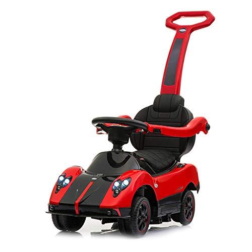 Veicoli a spinta e ruote Bambini Twist Car Music Mute Quattro Round 1-3 Anni Child Push Scooter Swing Passeggino Multifunzione Bambino Artefatto 360 ° Universal Wheel Toy Car