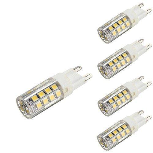 KINGSO 4x G9 LED Lampe 5W Glühlampe Ersatz für Halogenlampe 4000-4500K 400LM Nicht Dimmbar 35 SMD 2835 Omni-direktionales Licht mit Keramik-Lampenfassung Energiesparlampe 220-240V Neutralweiß