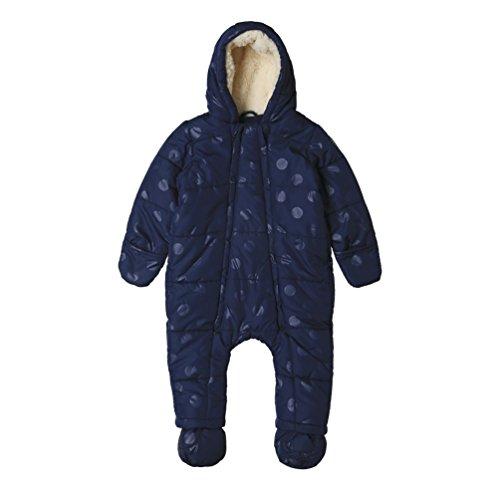 ESPRIT Kids Baby-Mädchen Schneeanzug RK46001, Blau (Navy 490), 86